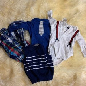Set of baby boy dress clothes size 0-3 m